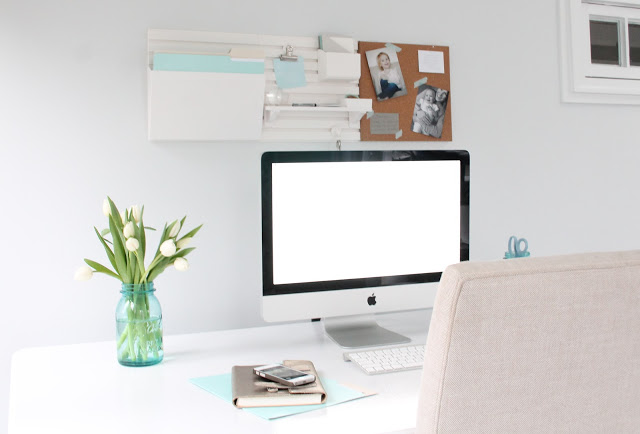 Office Makeover - Clutter Free Station-Julie Blanner