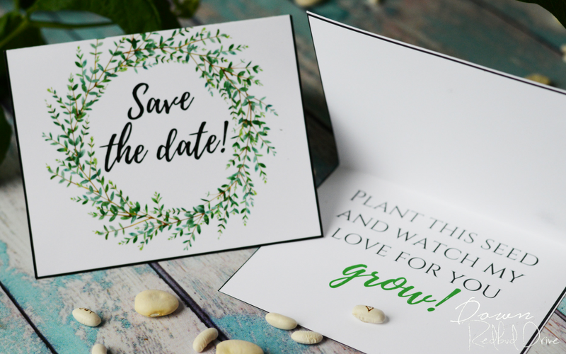 Wedding DIY - Personalized Seeds - Down Red Bud Drive