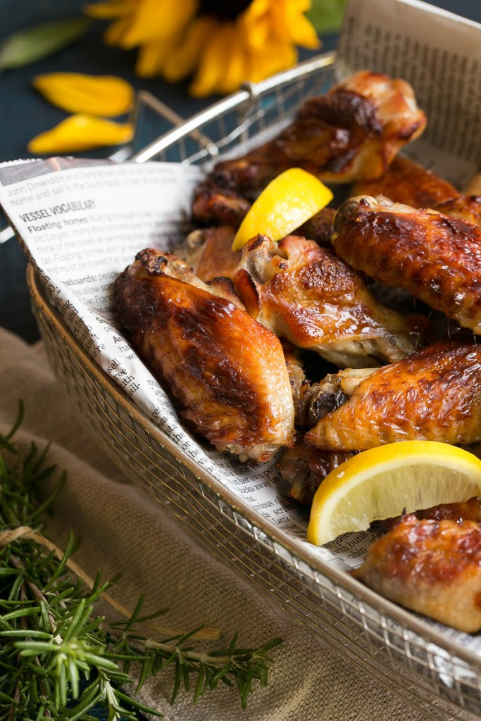 Chicken Wing Recipes - Crispy Lemon Chicken Wings -Dinner At The Zoo