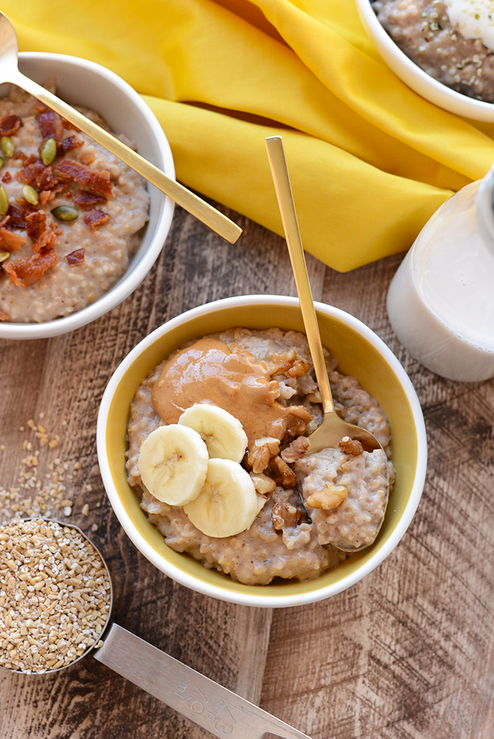Bowl of Maple Cinnamon Steel Cut Oats