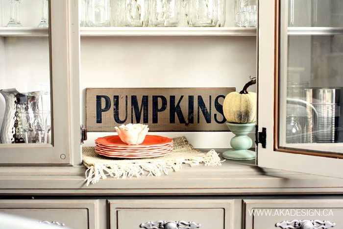 Fall Wood Projects - Pumpkins Sign-Home Made Lovely
