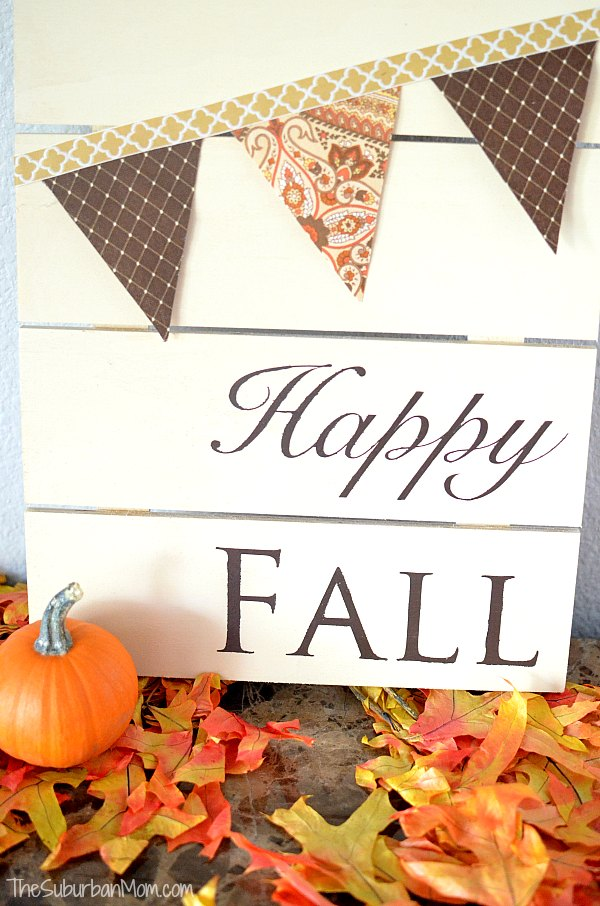 Fall Pallet Projects - Happy Fall Sign - The Surburban Mom
