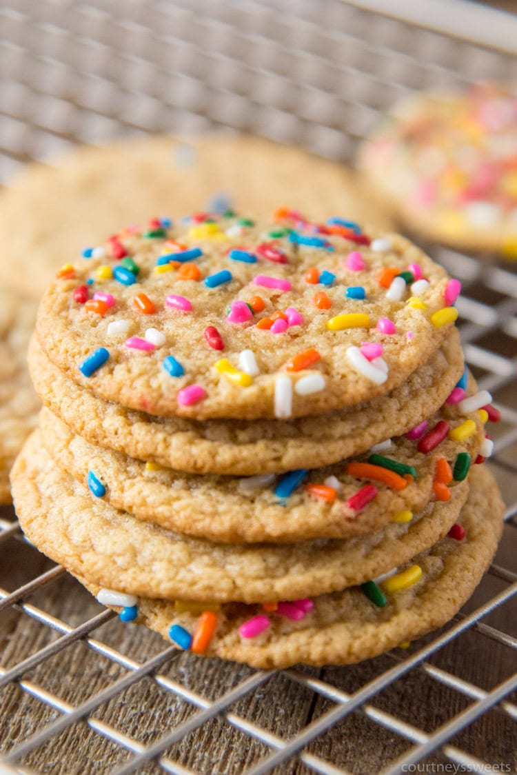 Cookie Exchange Recipe - Brown Sugar Cookies - Courtney Sweets