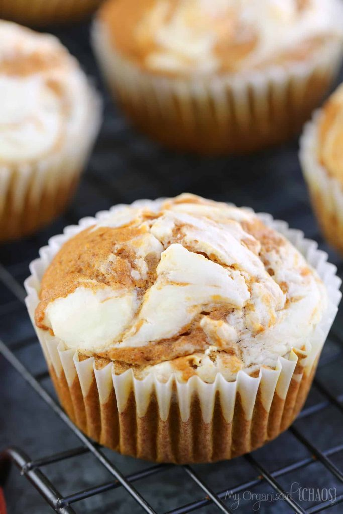Pumpkin Spice - Pumpkin Spice Cream Cheese Muffins - My Organized Chaos