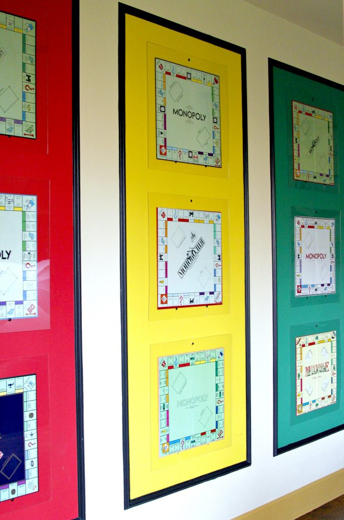 monopoly set wall