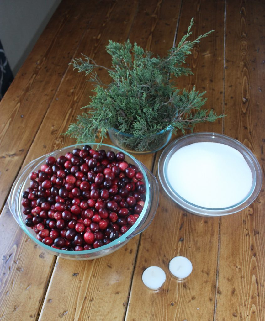 5 Minute Christmas Table Centerpiece