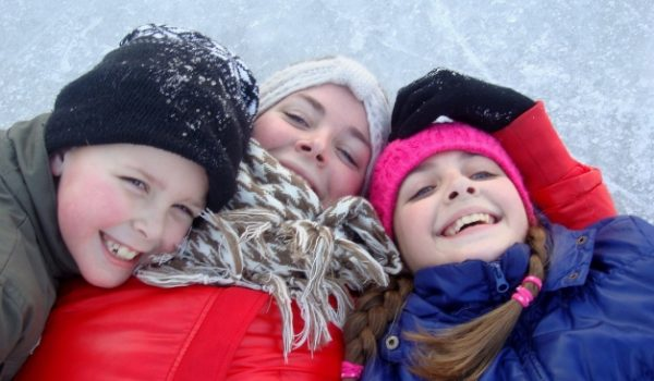 fun in the snow; winter outdoor activities