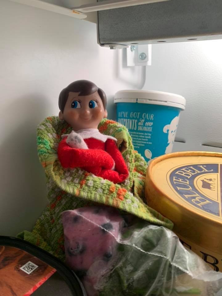 Winter Elf On The Shelf Ideas