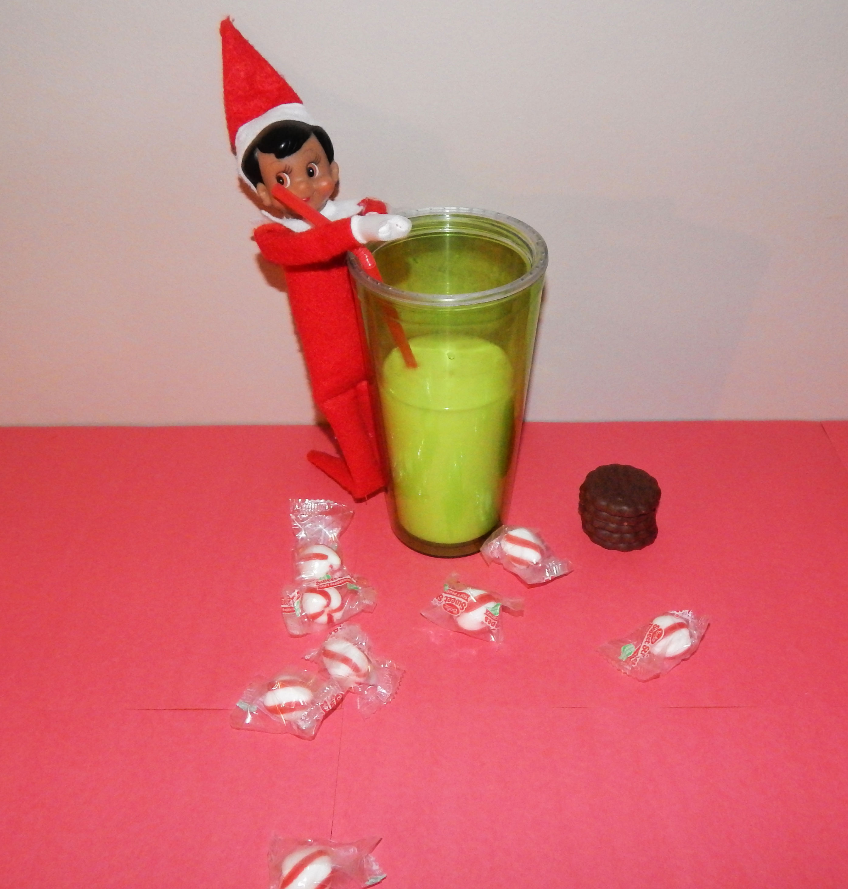 Elf On The Shelf Drinking Milk