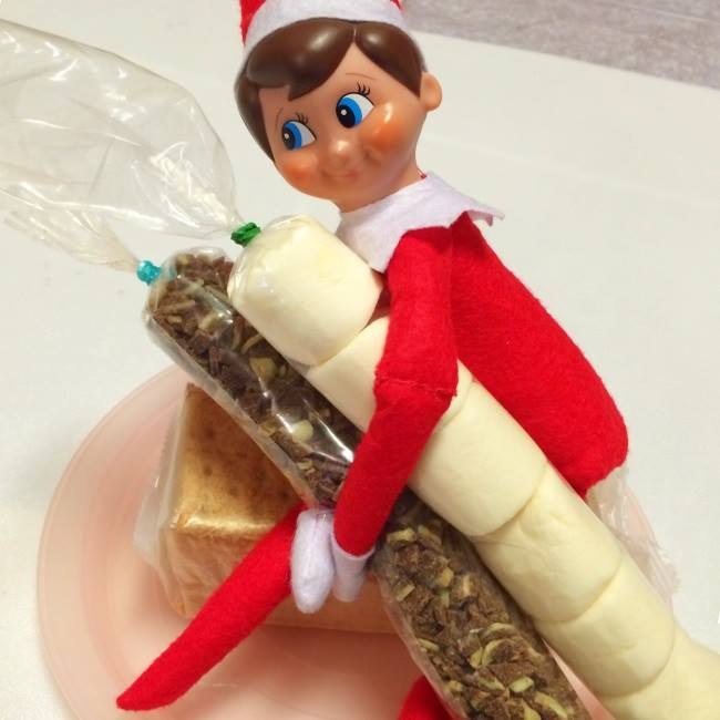 Elf On The Shelf Ideas Involving Food