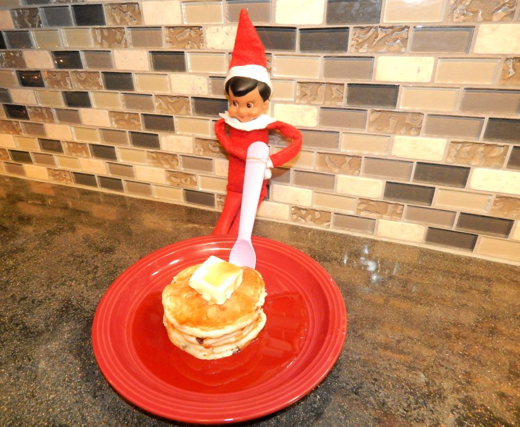 Elf On The Shelf Eating Pancakes