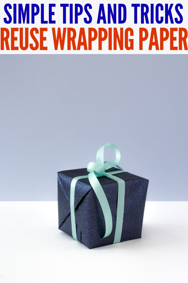 reuse wrapping paper tips
