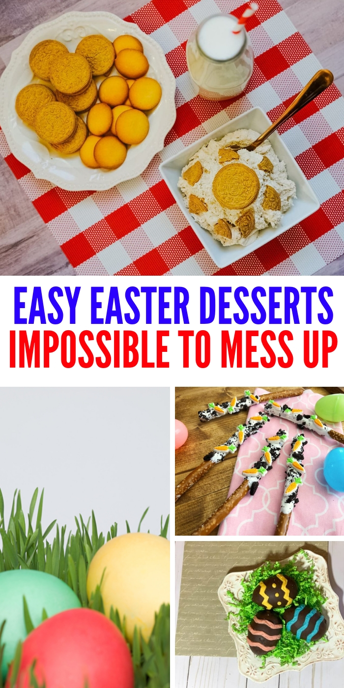 These easy Easter desserts are so simple, you literally can't mess them up! Get ready for some truly delicious Easter desserts to enjoy! #easyeasterdesserts #onecrazyhouse #desserts #homemade