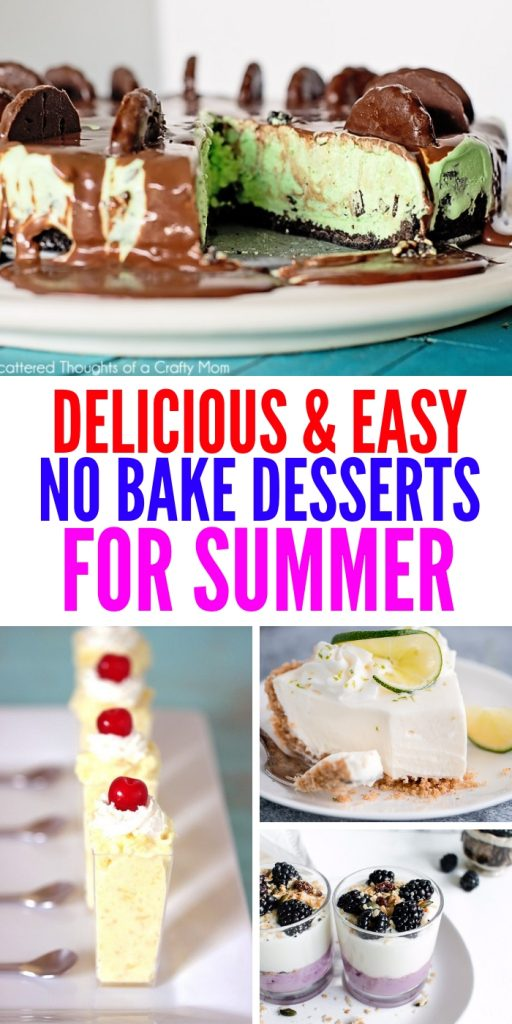 These no bake summer desserts are light, airy and delicious! There is no need to even use your oven during the hot summer months!  #nobakesummerdesserts #summer #nobake #desserts #onecrazyhouse