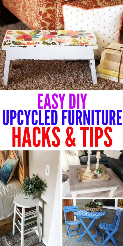 You'll love these upcycled furniture ideas and tips! Instead of buying new, why not try and reuse what you already have in your home? #upcycledfurniture #onecrazyhouse #DIY #homedecor