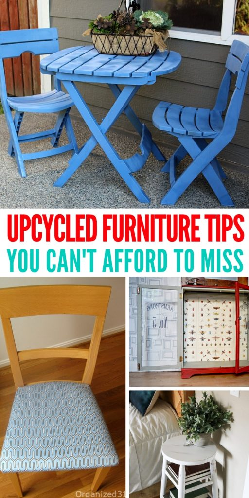 You'll love these upcycled furniture ideas and tips! Instead of buying new, why not try and reuse what you already have in your home? #upcycledfurniture #upgrade #home #DIY #onecrazyhouse