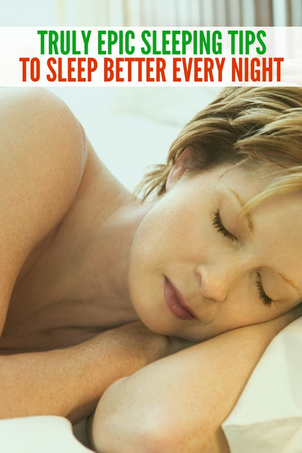 These simple tricks to get a good night's sleep are easy to do! Get ready to snuggle down in your bed and rest well with these sleeping tips! #trickstogetagoodnightssleep #sleep #rest #onecrazyhouse