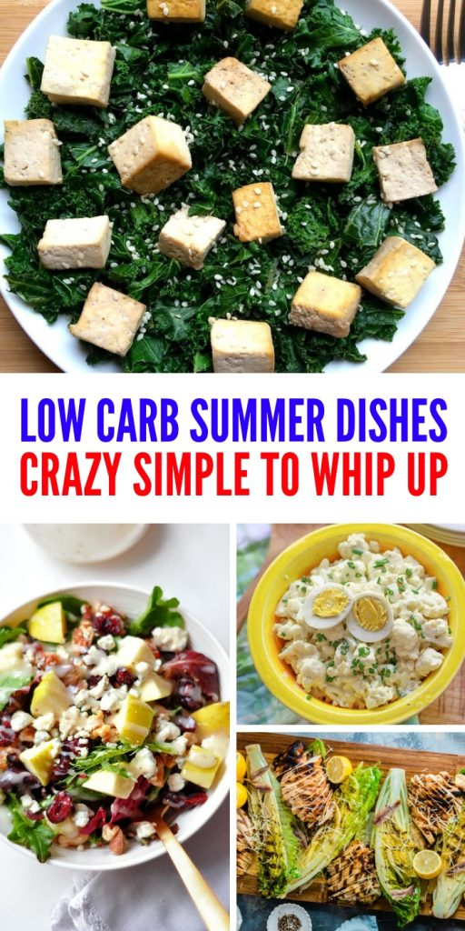 These low carb summer recipes are simple and easy to make. Plus, all of them will have you staying on your low carb eating lifestyle! #lowcarbsummerrecipes #easyrecipes #onecrazyhouse #summerfood