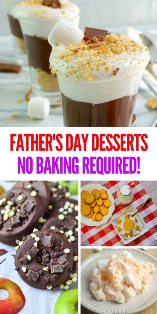 These delicious no bake desserts are perfect for Father's Day or any other day that a dessert is needed! Leave those ovens off for these desserts! #nobakedesserts #fathersday #desserts #onecrazyhouse