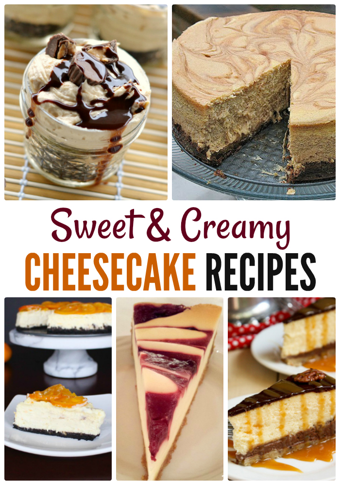 sweet and creamy cheesecake desserts