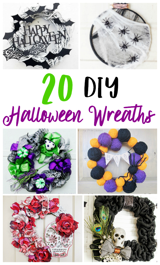homemade Halloween weaths