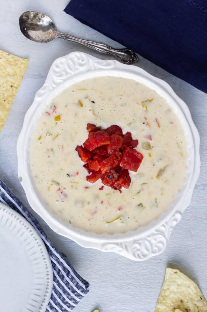 Enjoy Mexican appetizers like this white queso