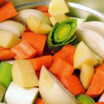 vegetables cooking in an instant pot