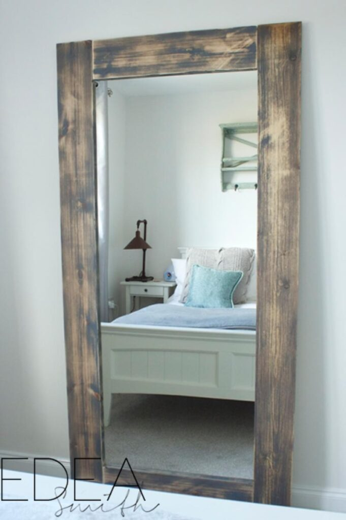 Farmhouse style wood mirror
