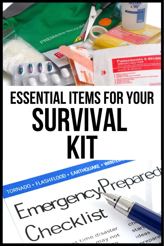family survival kit pin image