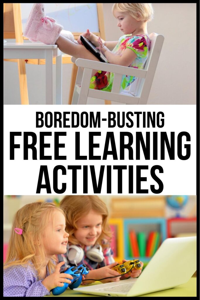 free learning activities pin image