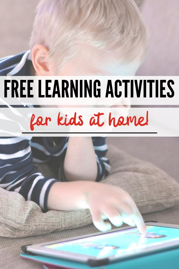 free learning activities pin image B