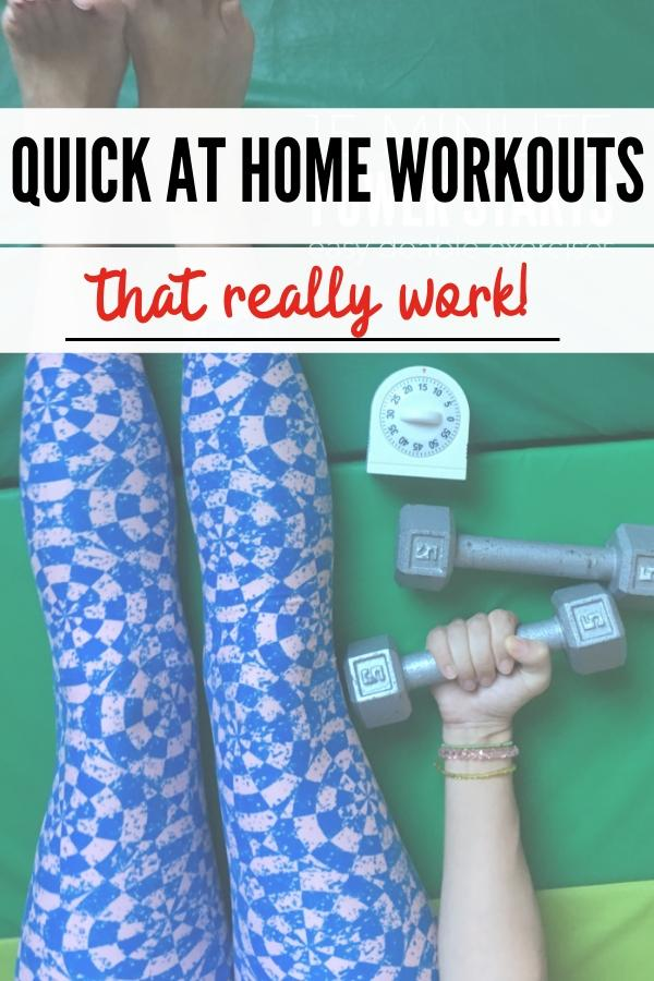 quick workouts to get fit at home pin image B