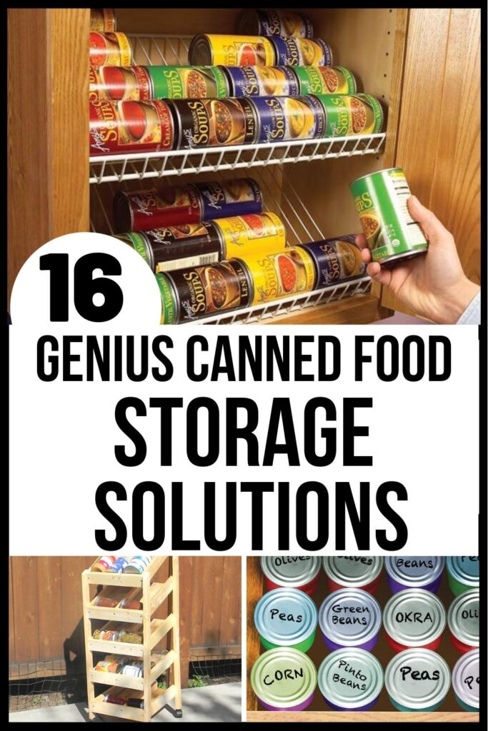 canned food storage solutions pin image A