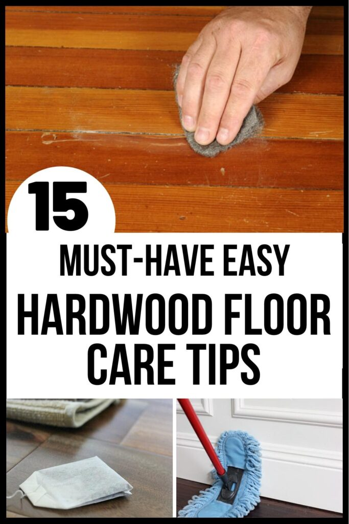 hardwood floors care tips pin image A