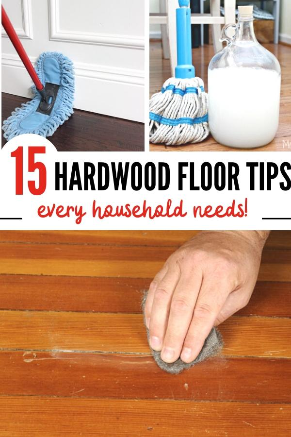 hardwood floors care tips pin image B
