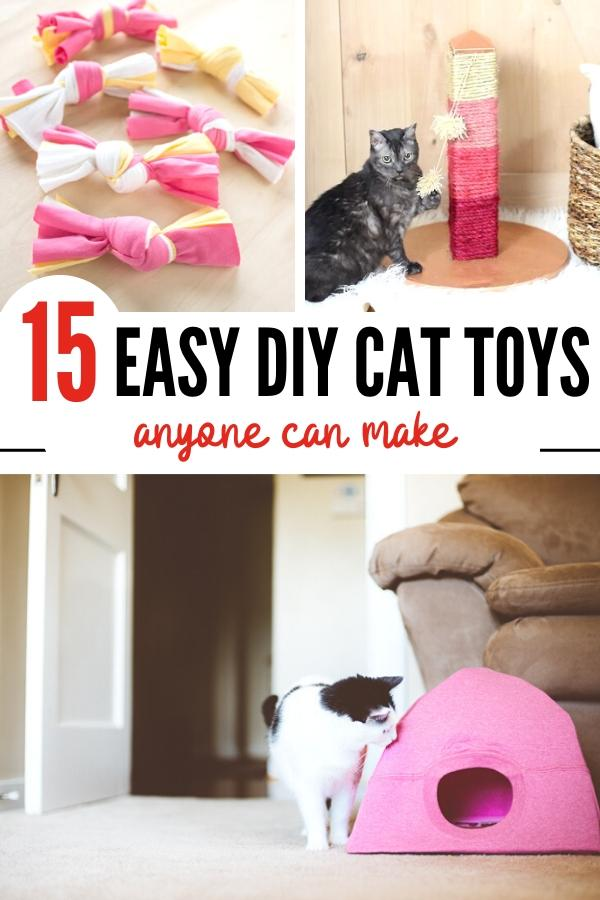 Easy DIY cat toys pin image B