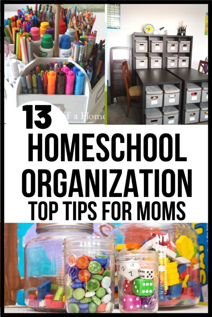 Homeschool Organization pin image A