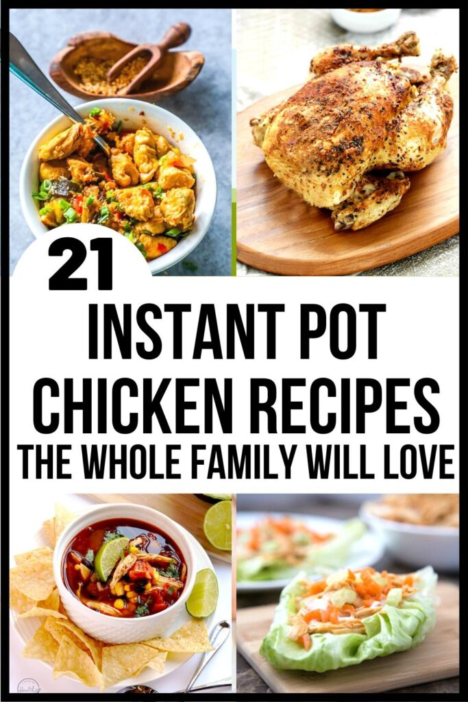 pressure cooker chicken recipes pin image A