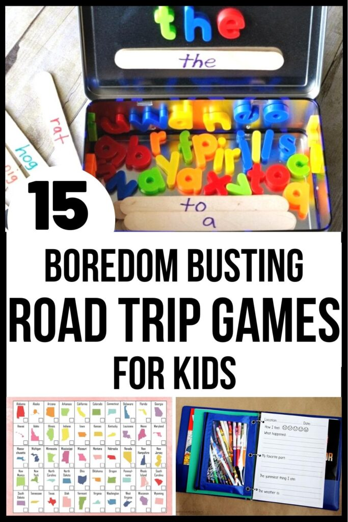 Road trip games for kids pin image A