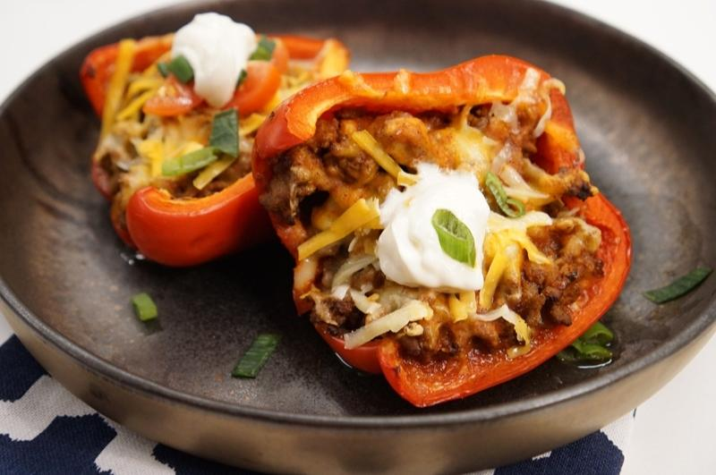 two Taco Stuffed Peppers