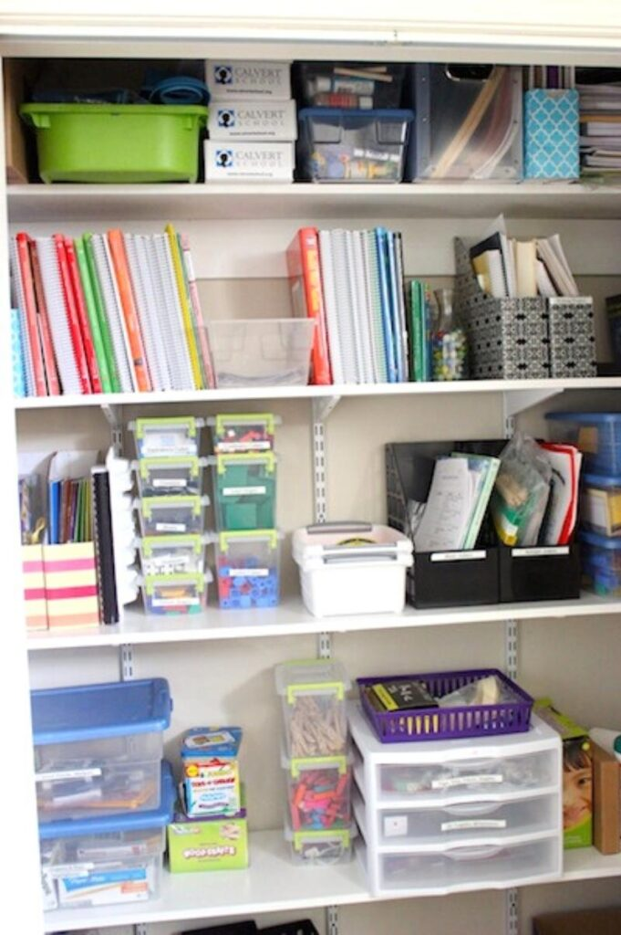 homeschool supply closet