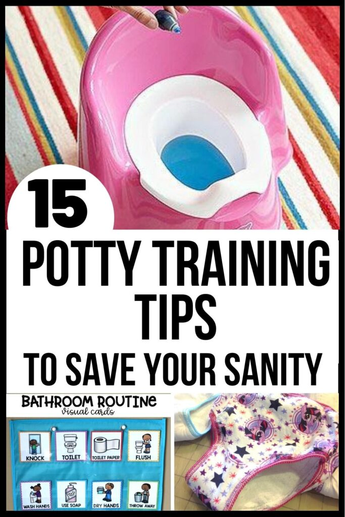 Potty Training tips pin A
