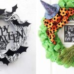 DIY halloween wreath ideas image collage