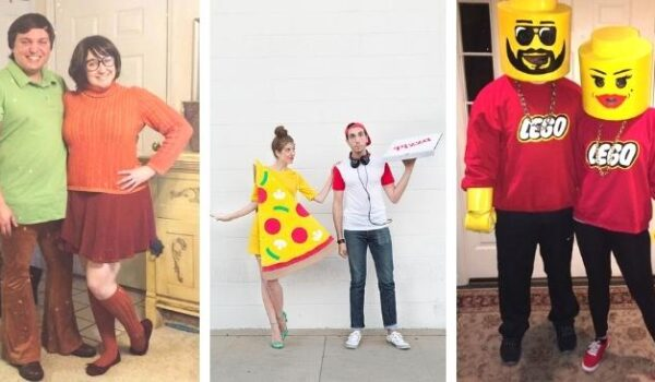easy couples costumes image collage