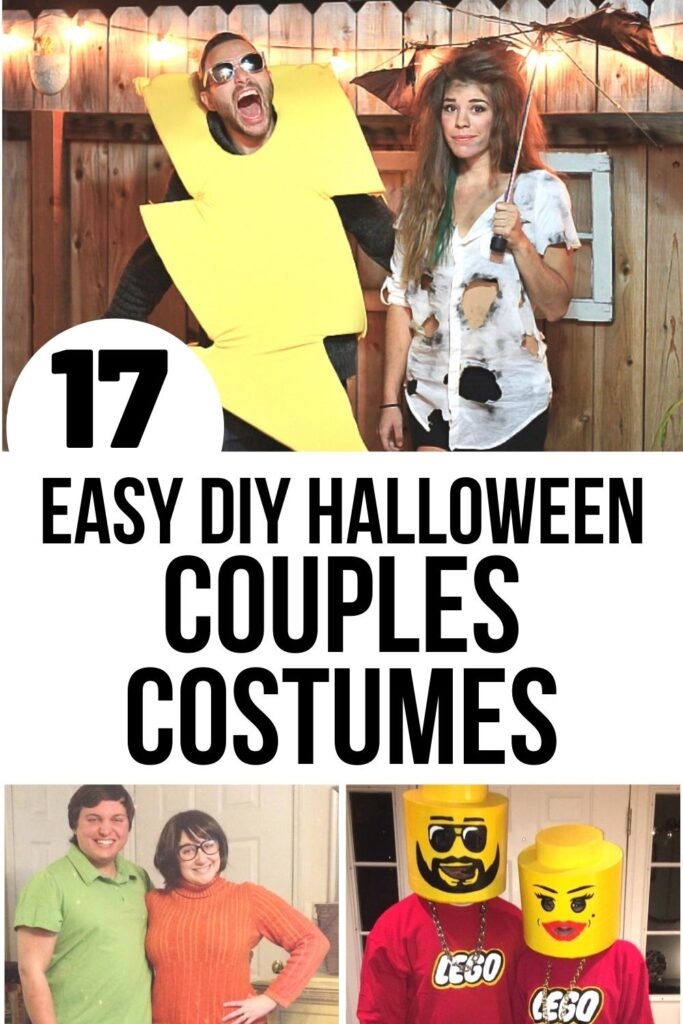 easy couples Halloween costumes pin image