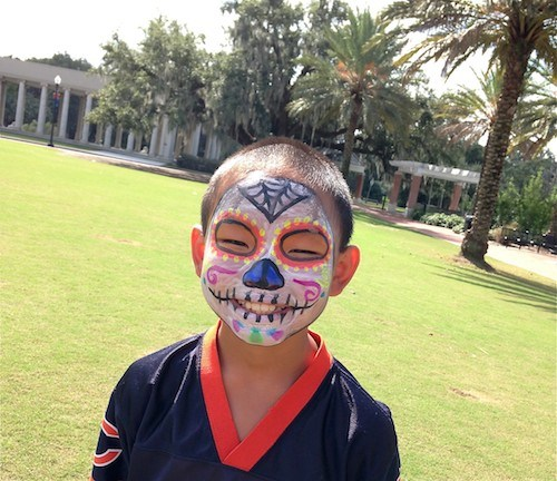 Day of the Dead face paint example