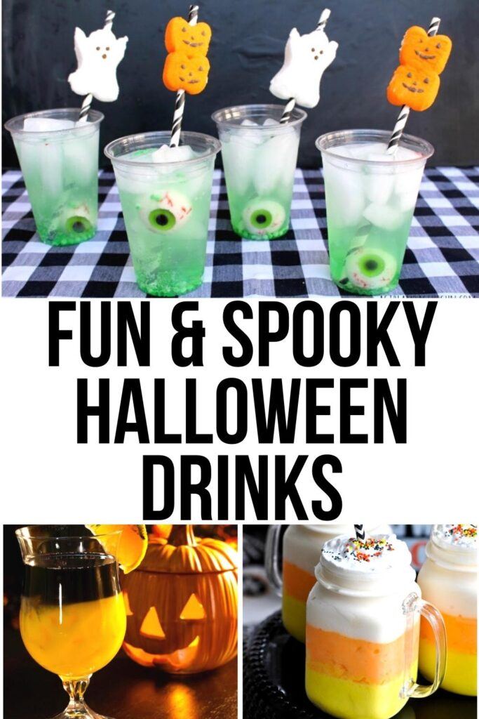 Halloween drinks for kids pin image A