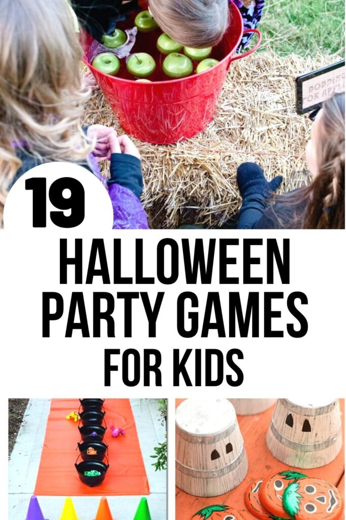 Halloween party games for kids pin image A