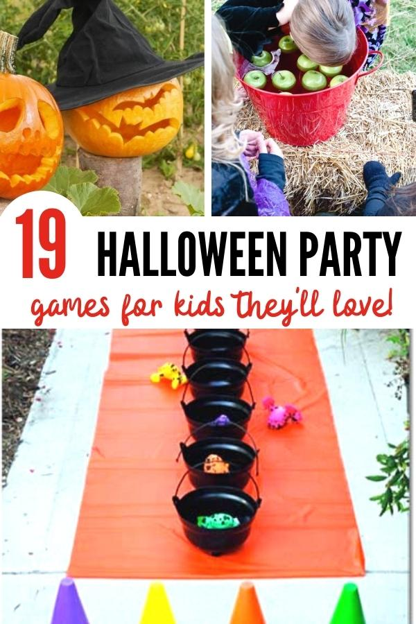 Halloween party games for kids pin image B
