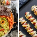 Halloween snacks for kids image collage